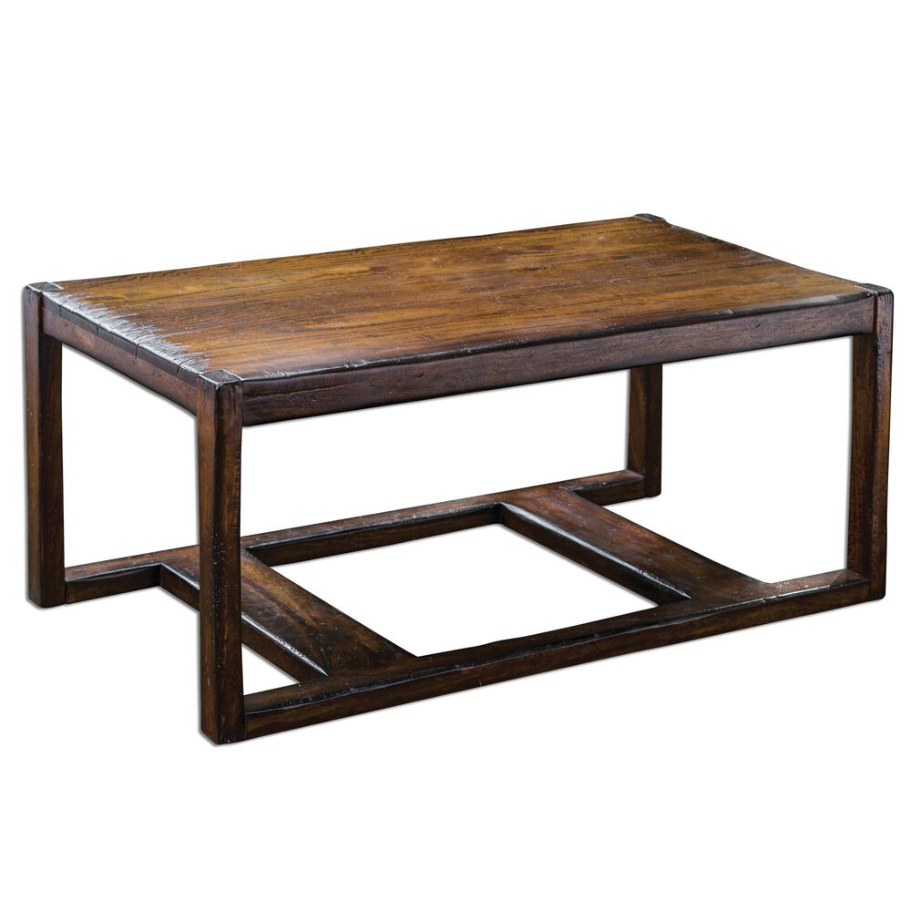 Mahogany Coffee Table In Honey Stain Mathis Brothers Furniture