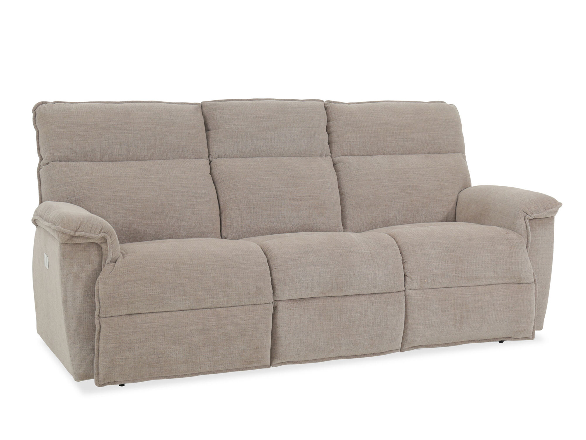Casual 86 5 Power Reclining Sofa With Usb Port In Barley Mathis
