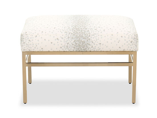 "Modern 25""  Rectangular Ottoman in White"