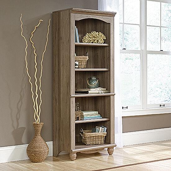 Contemporary Adjustable Shelf Open Library in Salt Oak