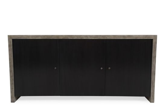 "Refined Romantic Luxury 75"" Buffet in Aged Bronze"