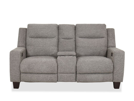 Casual Power Reclining Loveseat in Gray