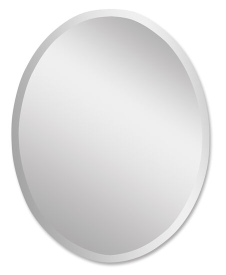"36"" Polished Edge Large Frameless Oval Vanity Mirror"