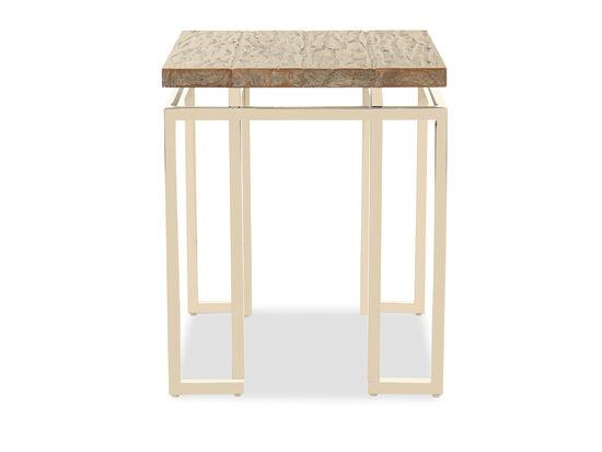 Square Contemporary Side Tablein Gray Pearl