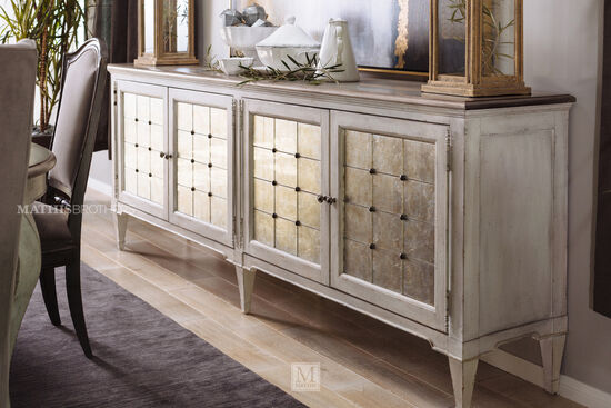 Dark Wood Mirrored Credenza : Buffet furniture & sideboards mathis brothers