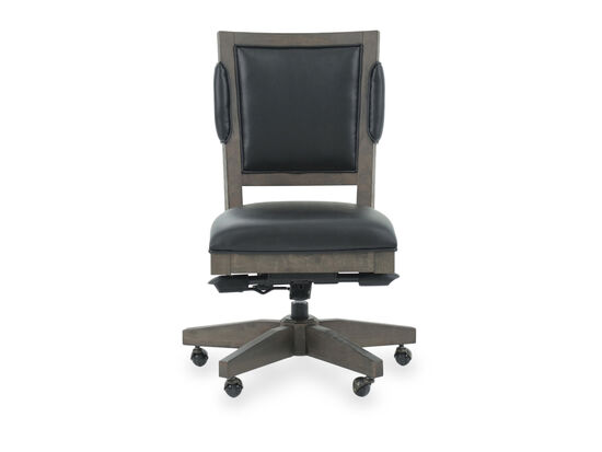 Leather Office Chair in Medium Brown