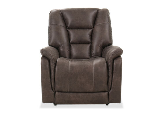 """Casual 42"""" Power Lift Recliner in Brown"""