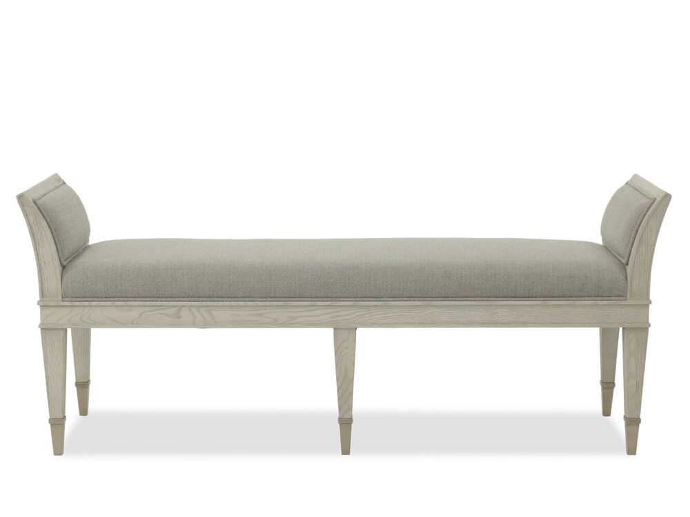 modern 61 quot bench in gray mathis brothers furniture 12447 | bht 374 508 01 sw 1000 sh 1000 sm fit
