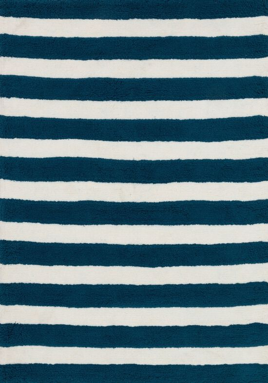 """Shags 3'-0""""x5'-0"""" Rug in Navy/White"""