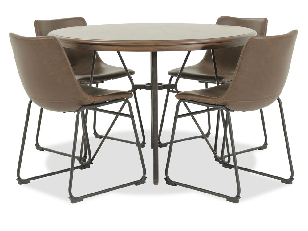 mathis brothers dining room sets | Five-Piece Mid-Century Modern 45'' Round Dining Set in ...