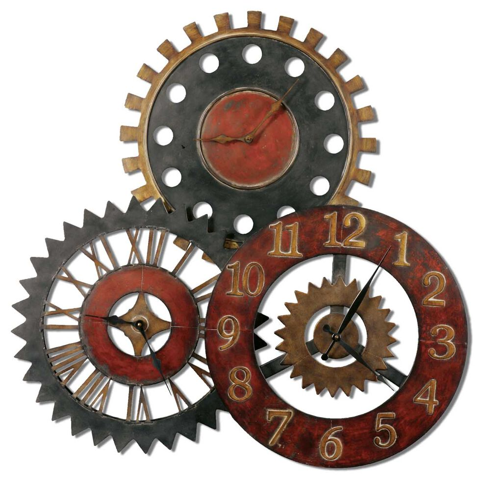 Hand-Forged Rusty Movements Wall Clock