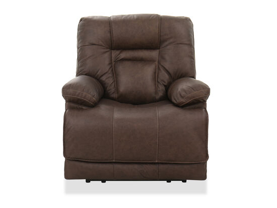"""Contemporary 39"""" Power Recliner in Umber"""