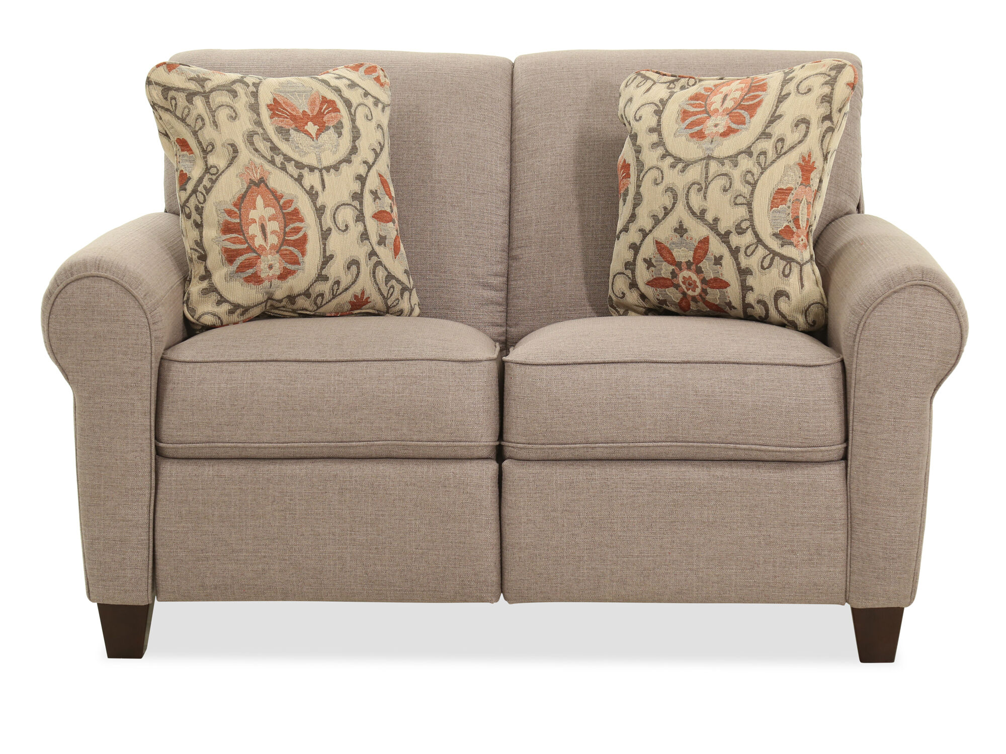 Power Reclining 60 Loveseat In Brown Mathis Brothers Furniture