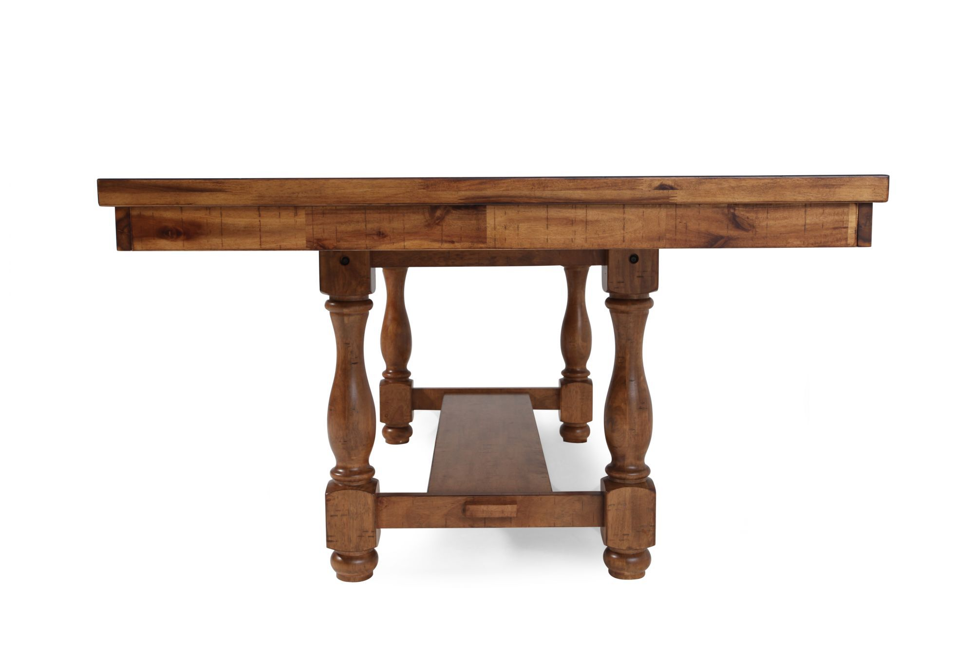 Traditional 68u0026quot; To 92u0026quot; Extendable Pedestal Dining Table ...