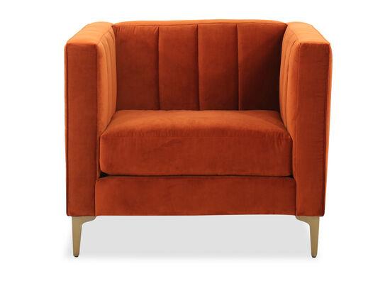 Channeled Arm chair in Orange Crush