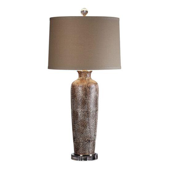 Reptile Textured Lamp in Rust Brown