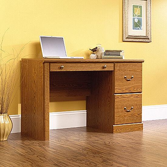 "47"" Traditional Two-Drawer Computer Desk in Carolina Oak"