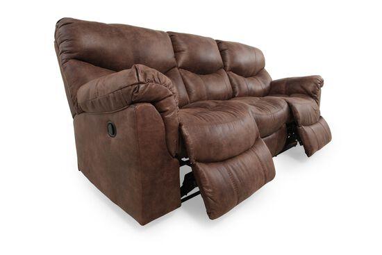 """Contemporary Double Reclining 91"""" Sofa in Gunsmoke"""