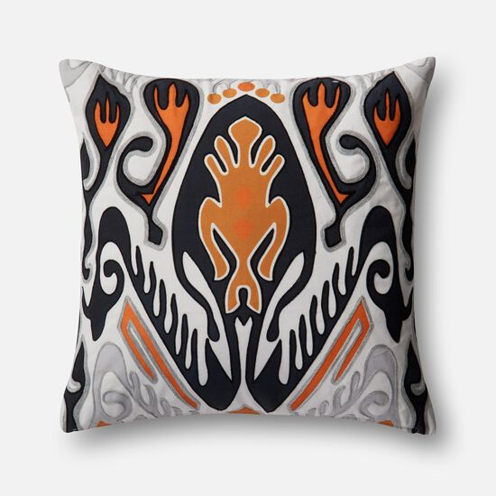 "22""x22"" Pillow Cover Only in Orange/Multi"