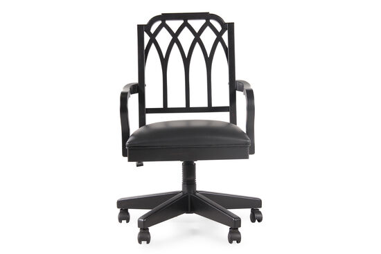 Cathedral Splat Back Swivel Tilt Office Chairin Black