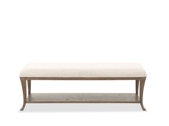 """18"""" Traditional Bedroom Bench in Brown"""