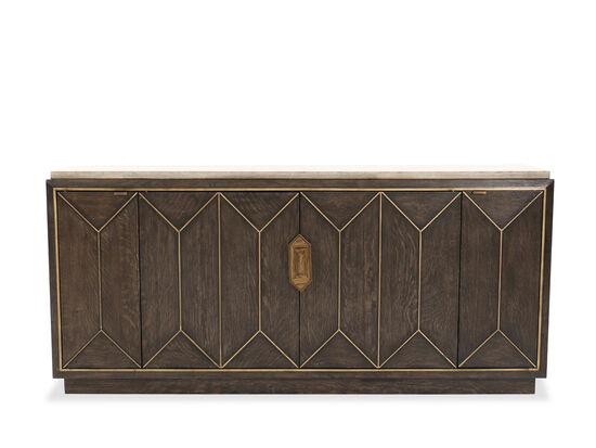 "36"" Traditional Four-Door Buffet in Brown"