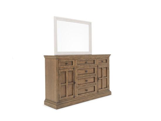 """41.5"""" Casual Six-Drawer Door Dresser in Brown"""