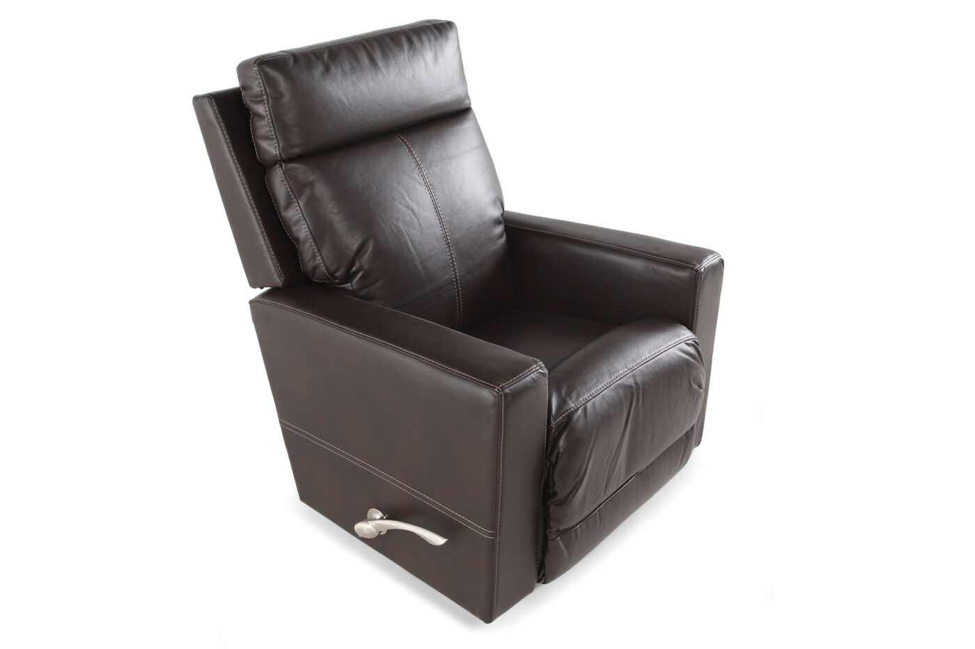 la z boy jax sable leather recliner mathis brothers furniture