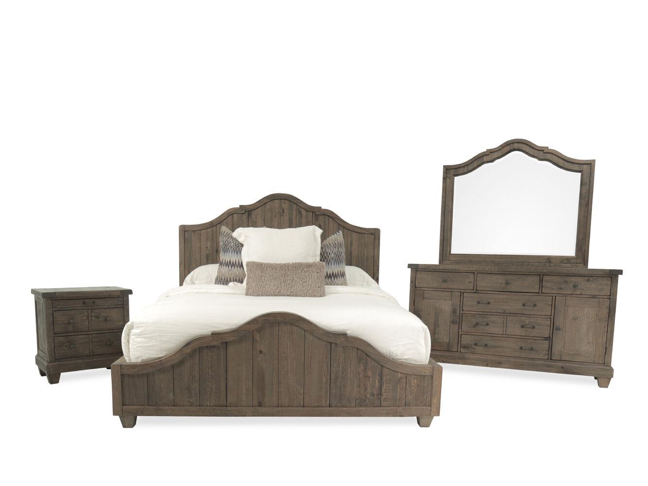 Four Piece Solid Wood Bedroom Set In Natural Umber