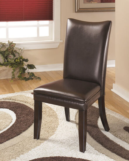 Contemporary 40'' Dining Side Chair in Brown