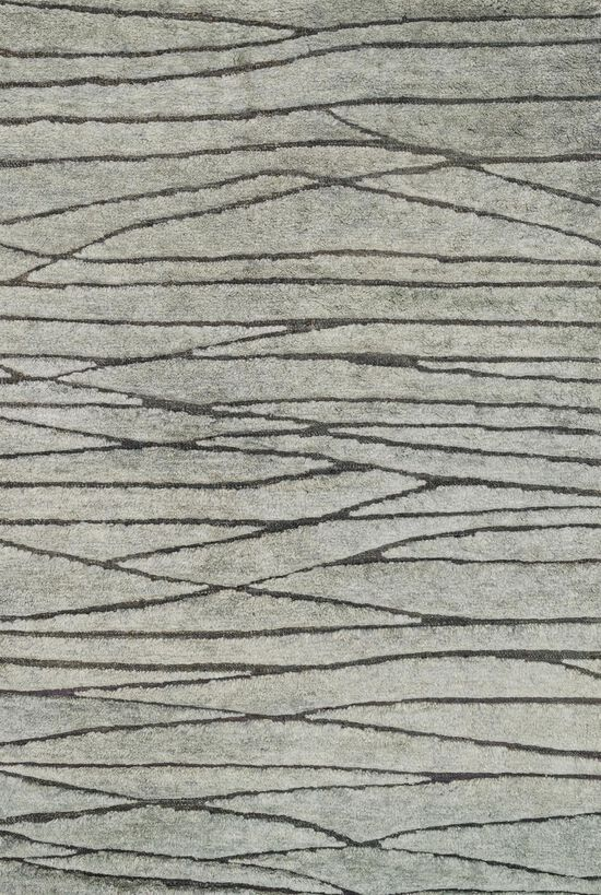 """Transitional 5'-6""""x8'-6"""" Rug in Mist"""