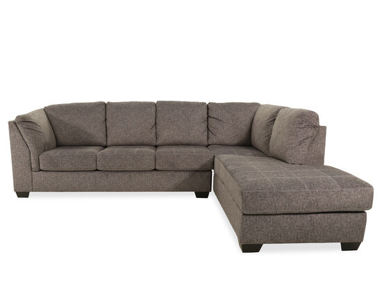 Two Piece Contemporary Sectional In Gray