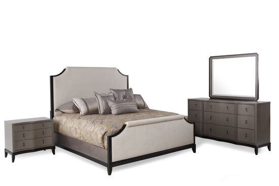 Four-Piece Contemporary Bedroom Set in Platinum