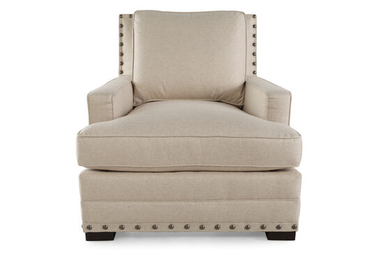 "Textured Contemporary 34.5"" Chair in Cream"