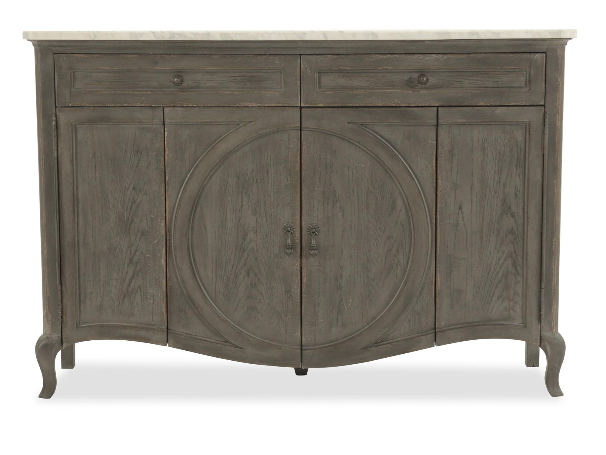 Credenza Dark : Dark wood credenza minimalist in legno con ante a