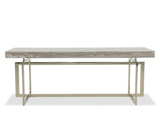 Geometric Base Modern Console Table in Gray