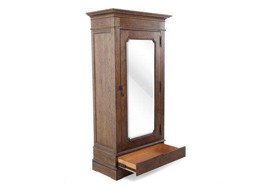 New Bohemian Rectangular Mirror Door Vintner's Cabinetin Brown