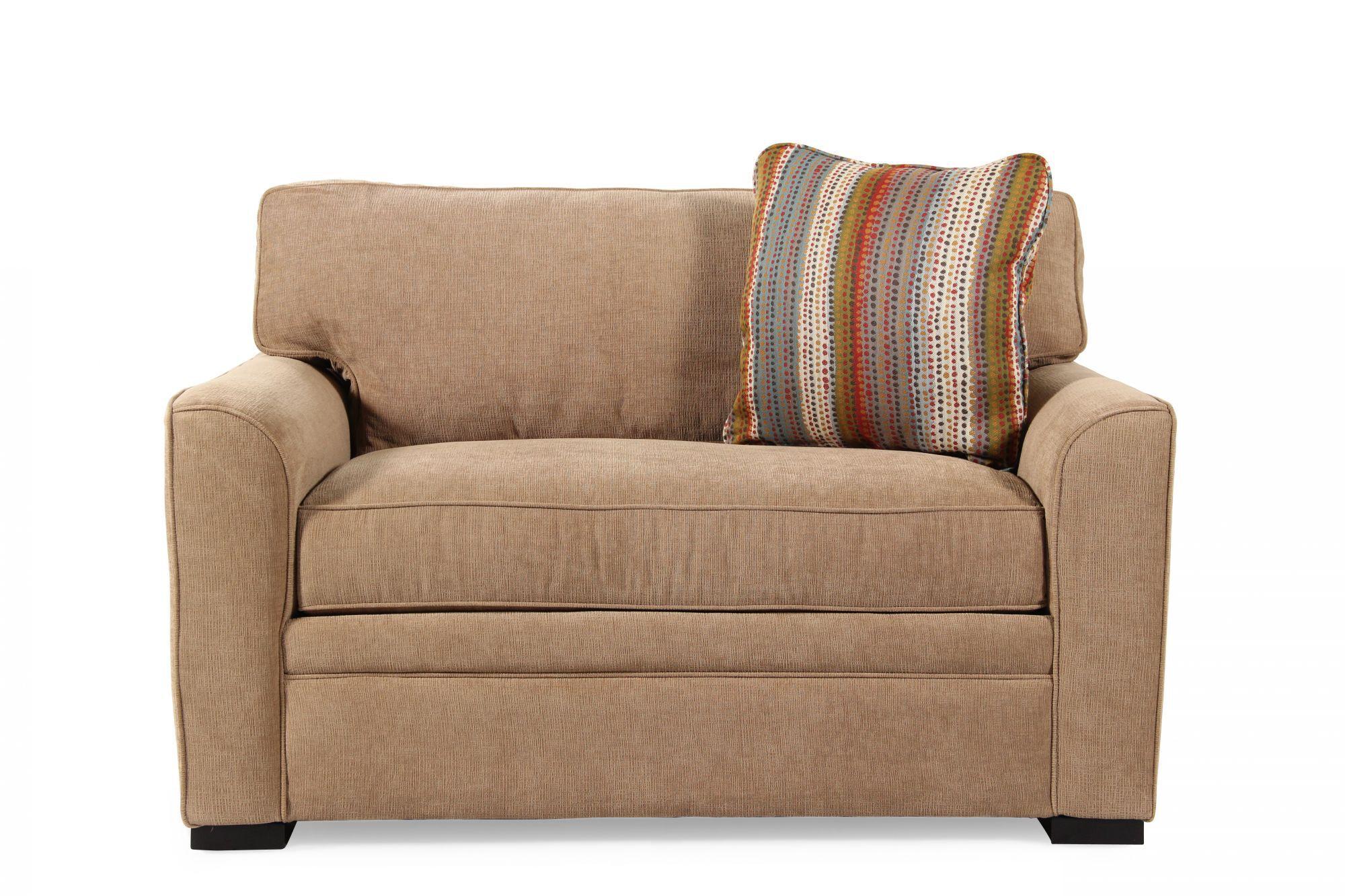 Jonathan Louis Blissful Brown Full Memory Foam Sleeper Sofa ...