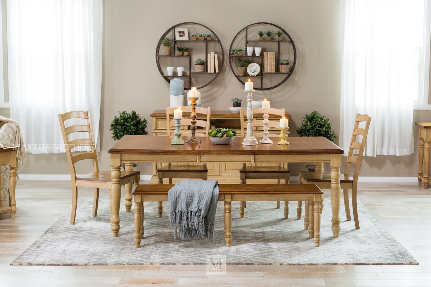 Country 60quot To 78quot Rectangular Dining Table