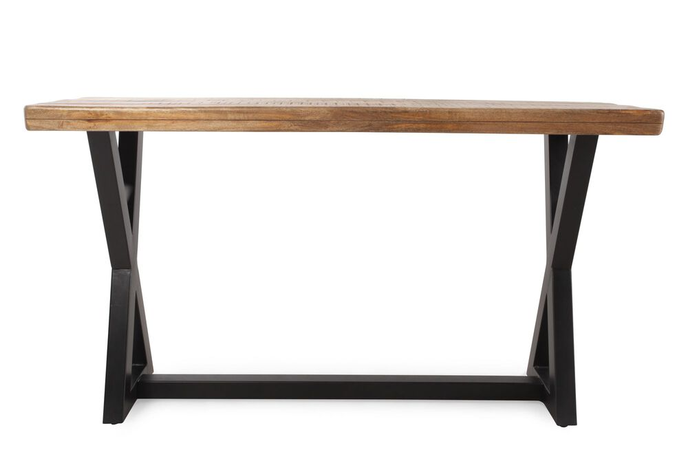 X-Leg Casual Wesling Sofa Table in Light Brown
