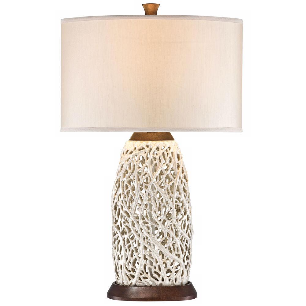 Seaspray Wood Table Lamp in Brown
