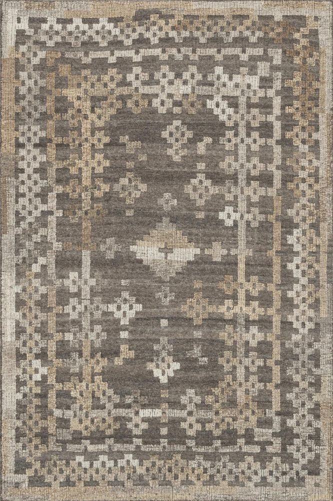 Transitional Rug in Charcoal/Taupe