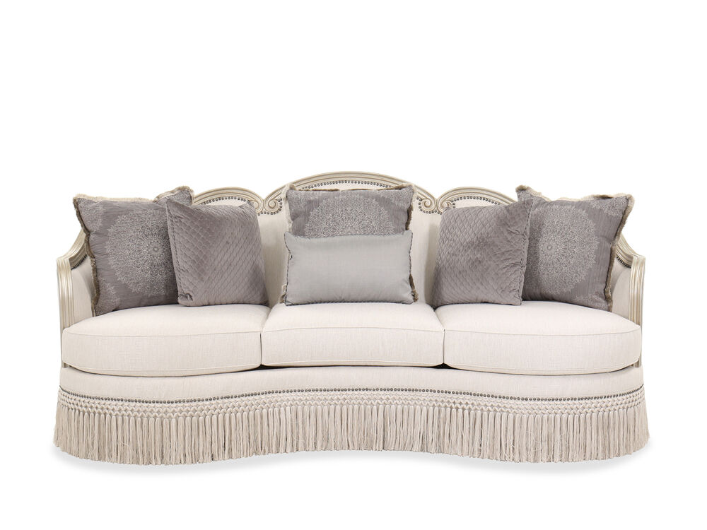 """Nailhead-Trimmed Contemporary 96.5"""" Sofa in in Beige"""