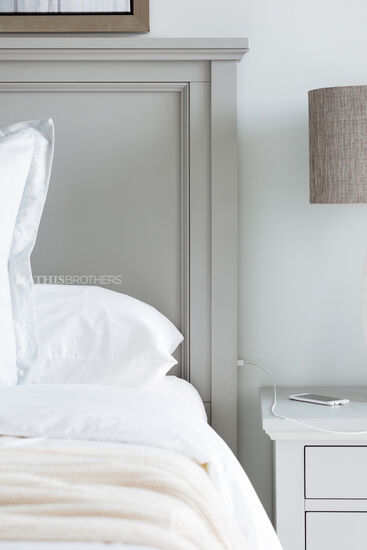 """62"""" Casual Panel Bed in Gray"""