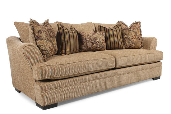 "Traditional 101"" Sofa in Nutmeg Brown"