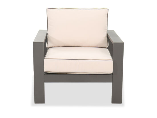 Casual Aluminum Club Chair in Gray