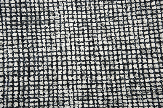 """Casual/Solid Hand-Tufted 2'6"""" x 8' Rectangle Rug in Black"""