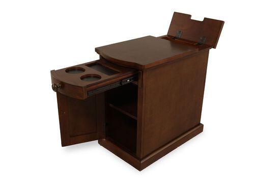 Rectangular Contemporary Chairside Tablein Dark Cherry