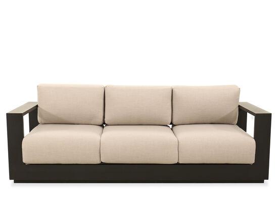Modern Aluminum Sofa in Black