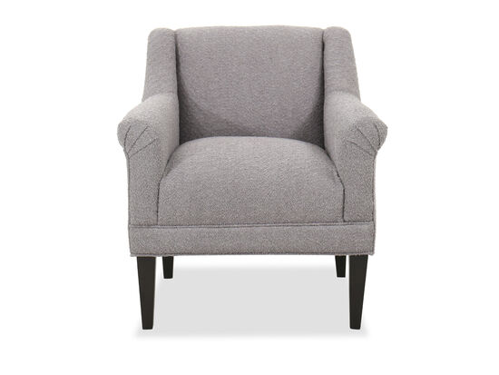 """Contemporary 34"""" Roll Arm Chair in Gray"""